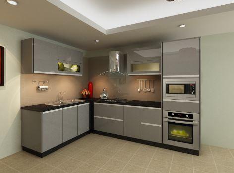 Mẫu tủ bếp inox 304