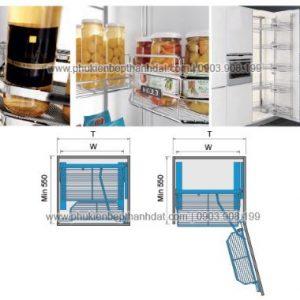 Kệ tủ đồ khô 8, 10 rổ (450mm-500mm) - 202001 , 202002 3
