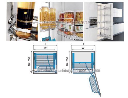 Kệ tủ đồ khô 8, 10 rổ (450mm-500mm) - 202001 , 202002 2